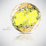 Background of ball with texture triangles with place for text Royalty Free Stock Image
