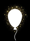 Background with balloon. Black background with balloon and lights. Vector illustration Stock Photo