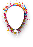Background with balloon. White background with balloon and color confetti. Vector illustration Stock Photos