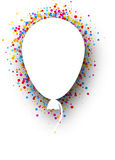 Background with balloon. White background with balloon and color drops. Vector illustration Stock Photos