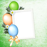 Background with balloons. And flowers Stock Photos
