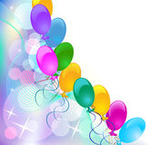 Background with balloons. Celebratory abstract background with balloons Royalty Free Stock Photography