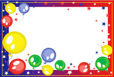 Background with balloons. And stars Stock Photo