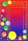 Background with balloons. And stars Royalty Free Stock Images