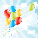 Background with balloons. Festive illustrated background with balloons Royalty Free Stock Images