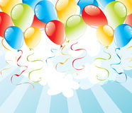 Background with balloons. Festive illustrated background with balloons Royalty Free Stock Photography
