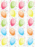 Background  with balloons Stock Images