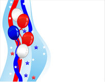 Background with balloons. Background with elements of USA flag and balloons Stock Photos