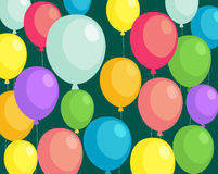 Background balloons. Illustration of Beautiful background balloons Royalty Free Stock Photography