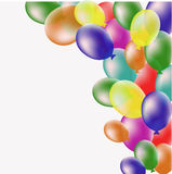 Background with balloons. Composition, birthday Royalty Free Stock Photos