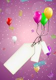Background with balloons and confetti Stock Photography