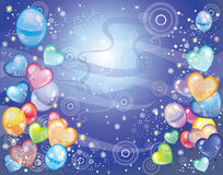 Background with balloons dark blue. Vector background with balloons dark blue Royalty Free Stock Image