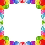 Background balloons frame. Balloons frame of various colors, beautiful background, isolated, eps10, contains transparencies Royalty Free Stock Photos