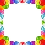 Background balloons frame Royalty Free Stock Photos