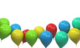 Background of balloons frame, 3d render Royalty Free Stock Photography