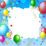 Background Balloons Means Blank Space And Backdrop Stock Images