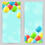 Background with balloons Stock Photos