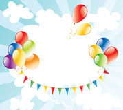 Background with balloons in the sky Royalty Free Stock Images