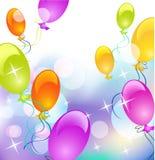 Balloons and stars Royalty Free Stock Photos