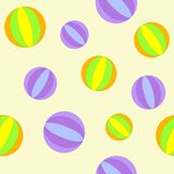 Background with balls. Cure seamless background with balls Royalty Free Stock Photos