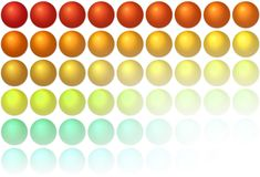 Background with balls Royalty Free Stock Photography