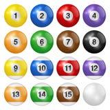 background balls billiard isolated white Υψηλός - ποιότητα, photorealistic διανυσματική απεικόνιση ελεύθερη απεικόνιση δικαιώματος