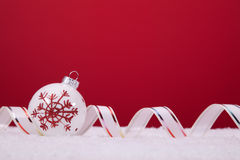 background balls christmas over red Royaltyfria Bilder