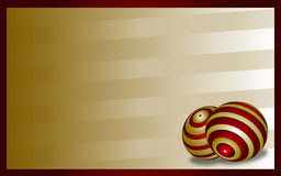 Background with balls. Gold background with two balls Stock Photo