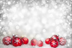 Background with balls and stars Royalty Free Stock Image