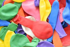 Background with baloons without air. Colorful background with baloons without air varied royalty free stock images