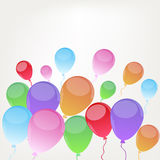 Background with  baloons Stock Image