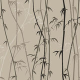 Background with bamboo. Light background  with bamboo stalks stock illustration