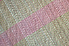 Background of bamboo mat plate, Colorful pattern, Bamboo texture, Blank space of bamboo mat. Japanese bamboo mat Royalty Free Stock Photo