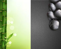 background with bamboo and pebbles Royalty Free Stock Images