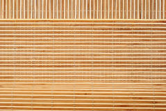 Background from bamboo table cloth Stock Photography