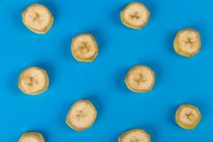 Background, Banana, Blue, Close-up Royalty Free Stock Images
