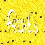 Background banana bunch Stock Image