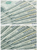 Background of banknotes 100 dollars Royalty Free Stock Image