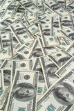 Background of banknotes dollars. Background of a lot of banknotes dollars Royalty Free Stock Photos