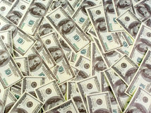 Background of banknotes dollars. Background a lot of banknotes dollars Stock Image