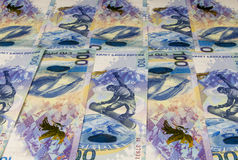 Background from banknotes 100 rubles Royalty Free Stock Photo