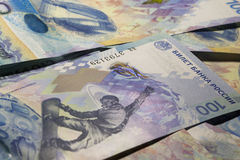 Background from banknotes 100 rubles to Sochi-2014 Royalty Free Stock Photos