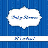 Background with banner baby shower boy Royalty Free Stock Images