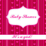 Background with banner baby shower girl. Vector  background with banner baby shower girl Royalty Free Stock Images