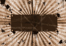 Background banner  from circles. Grunge frame, textured vintage look Royalty Free Stock Image