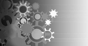 Background and Banner COGS machining Royalty Free Stock Photos