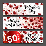 Background banner set. Sale header or banner set with discount Stock Photography