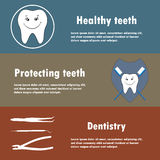 Background or banner, teeth, dental instruments, dental care. Background or banner, teeth, dental instruments, dental care Royalty Free Stock Photography
