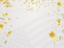 Background banner for 4th july, Independence Day. USA celebratio. N  the United States. Happy Birthday America. and flag patriotic illustration Royalty Free Stock Photography