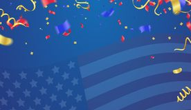 Background banner for 4th july, Independence Day. USA celebratio. N  the United States. Happy Birthday America. and flag patriotic illustration Royalty Free Stock Photo